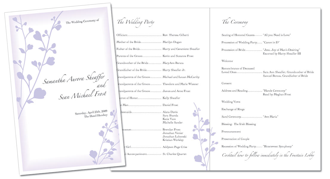 event program booklet template | goseqh.tk